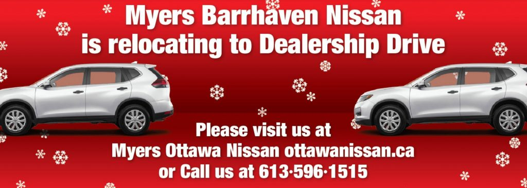 Myers Barrhaven Nissan moved