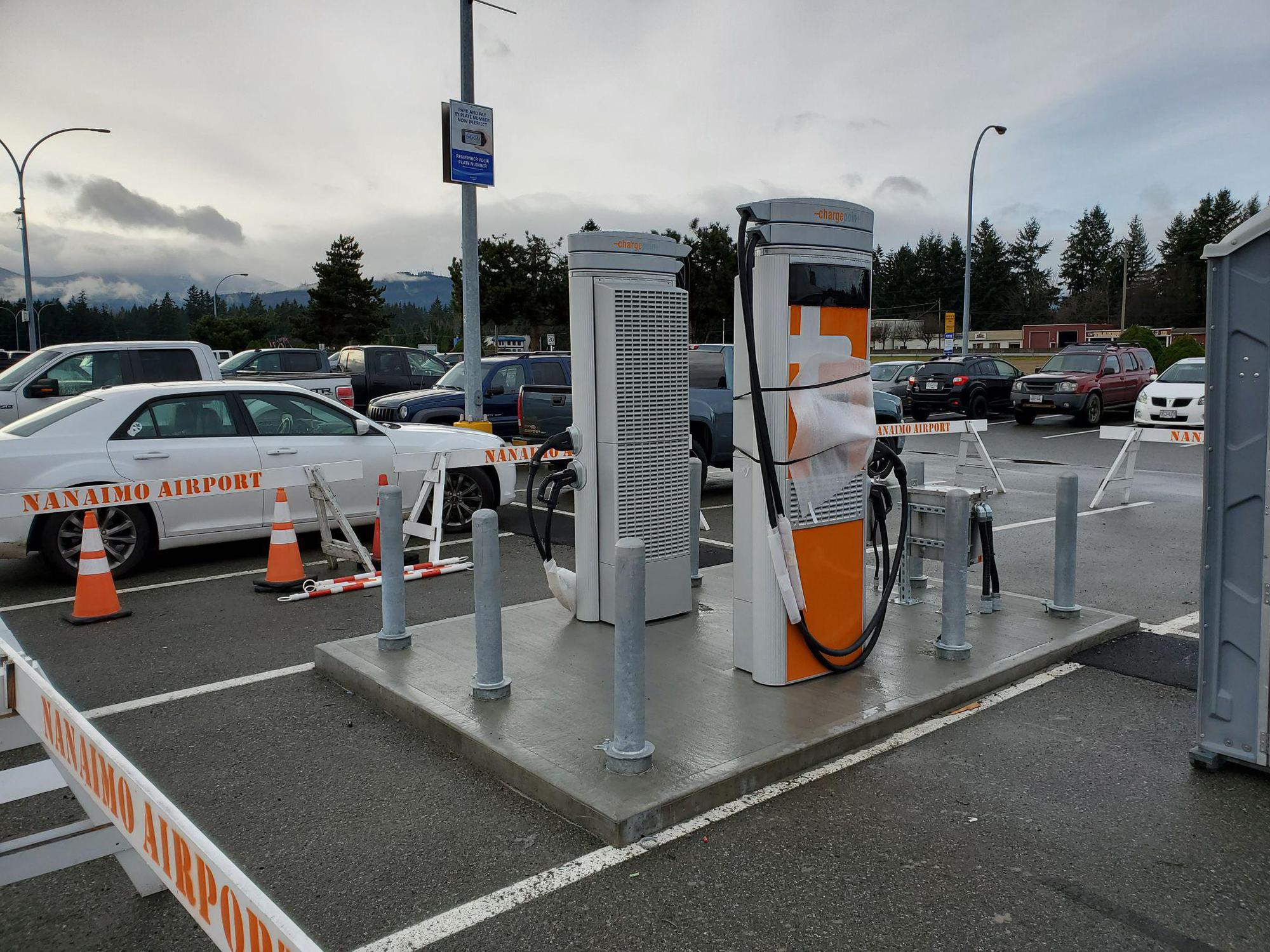 ChargePoint Nanaimo Airport south chargers