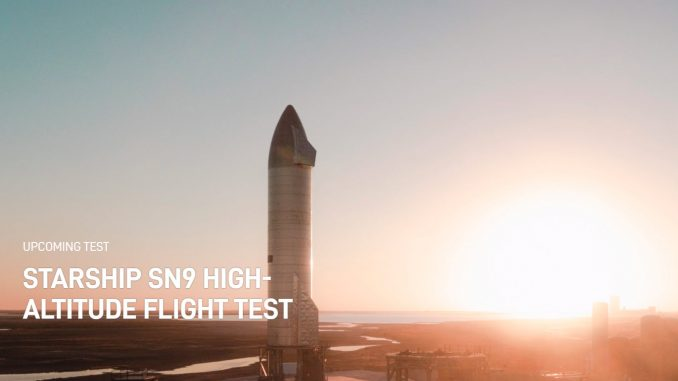 SpaceX SN9 test