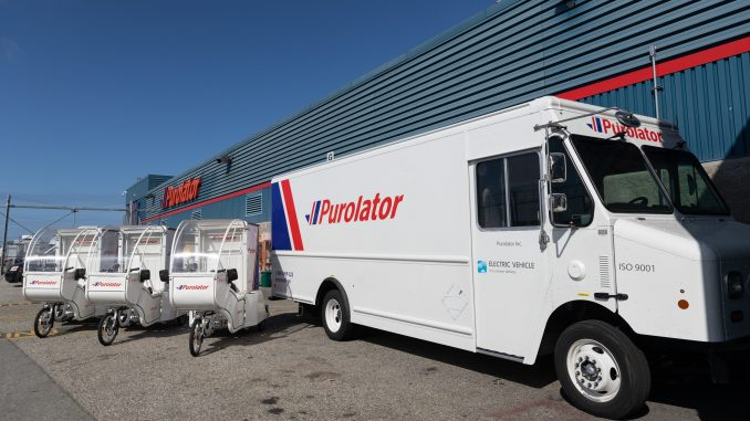 Purolator Inc--Purolator hits the road as first national courier