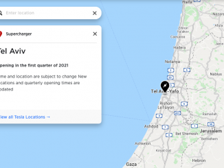 Tesla Israel Supercharger map