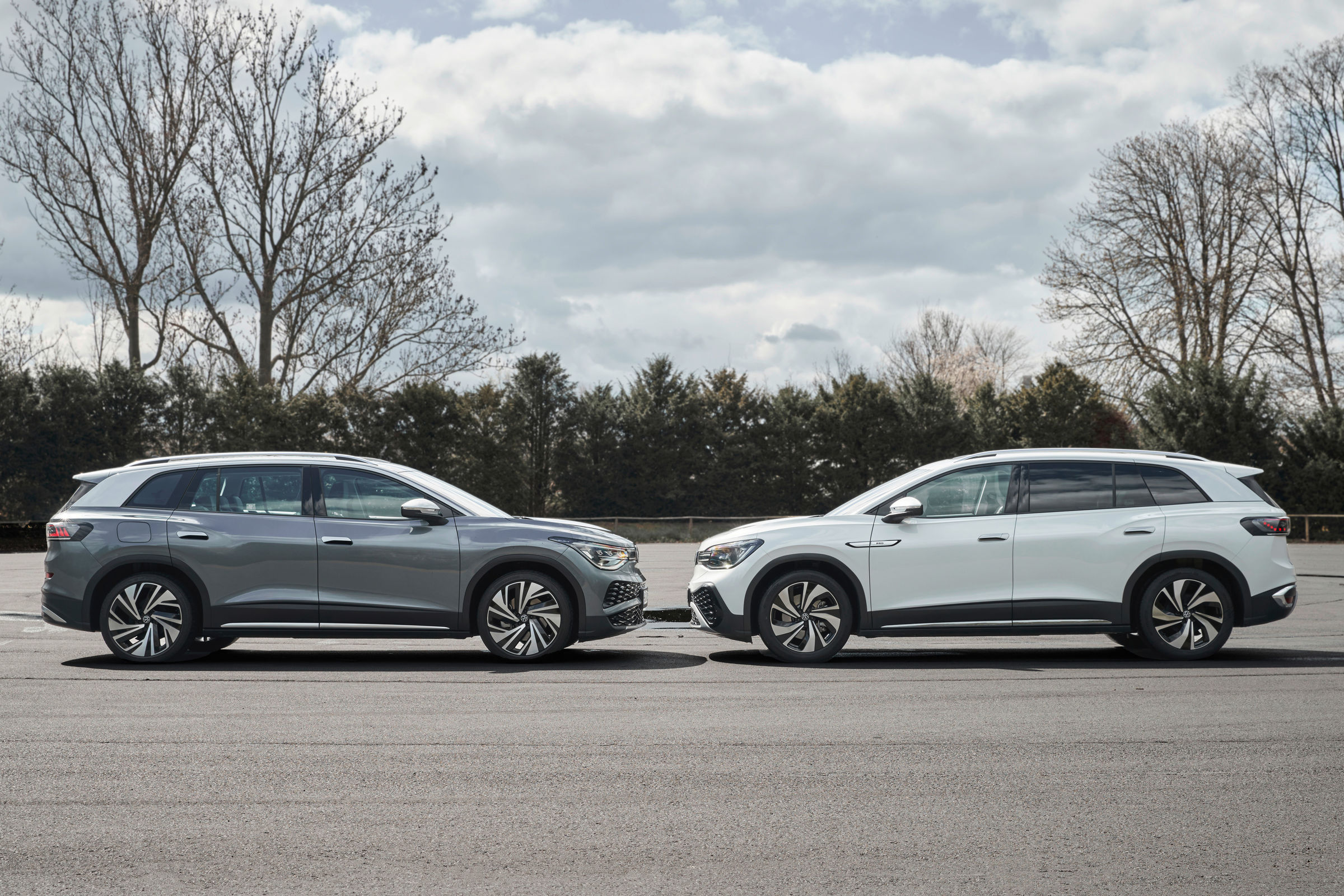 VW ID6 face off