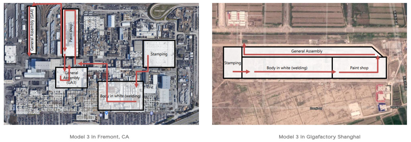 Fremont and Shanghai production map