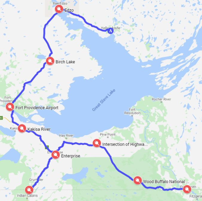 NWT DCFC stations