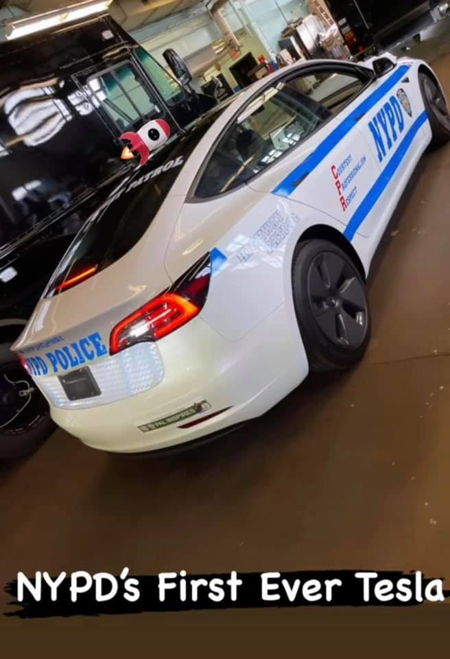 NYPD Tesla Model 3