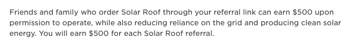 Solar Roof referral