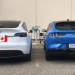 Tesla Model Y side by side with Ford Mach-E